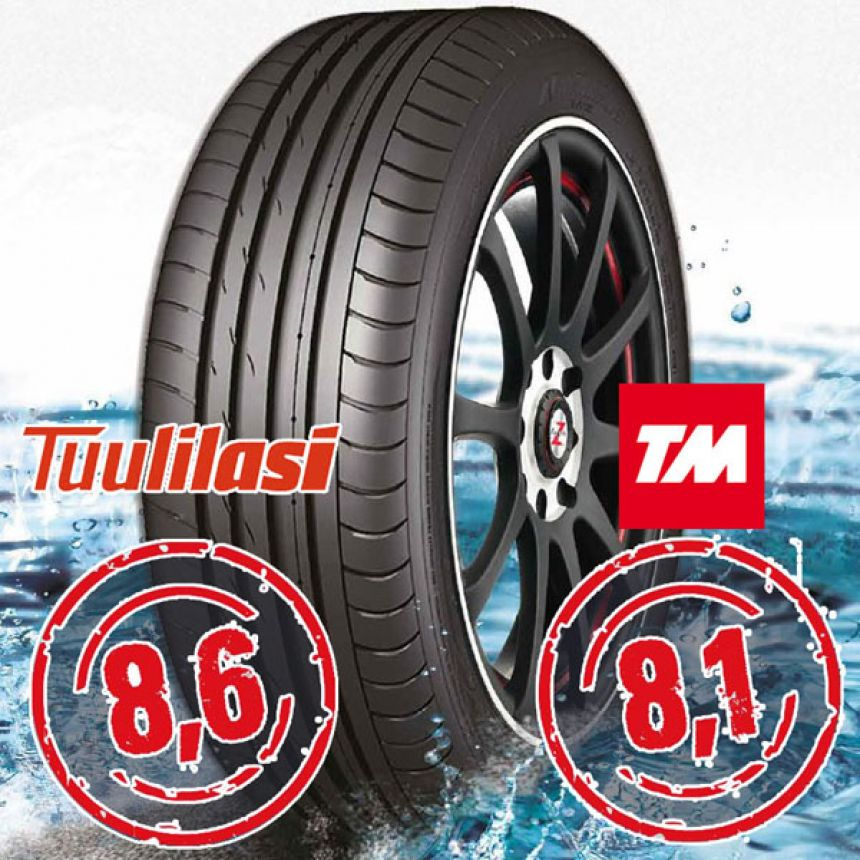 Sportnex AS-2+ TM- ja Tuulilasi-testimenestys 225/35-20 Y