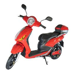 e-Scooter, Red & Silver