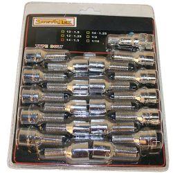 Tähtipää aluvannepulttisarja 1,25mm nousu, 12mm, pituus 28mm 20 kpl