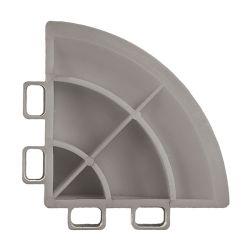 Lattialaatan kulmapala, aluminium grey 4 kpl